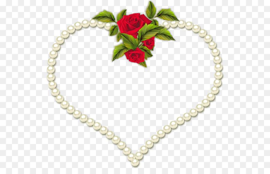 Picture Frames Heart Film frame Clip art - rose border png download ...