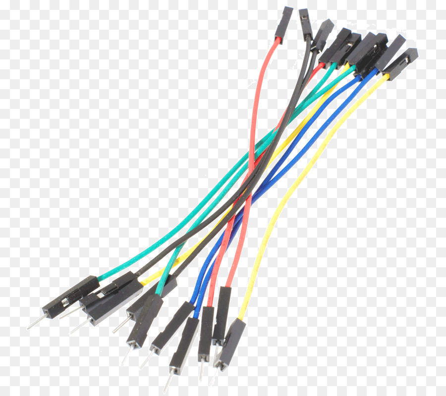 Jump wire Jumper Breadboard Electrical cable - wires png download ...