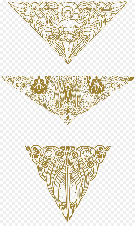 Jugendstil Ornamente Art Deco Png Herunterladen 19203173