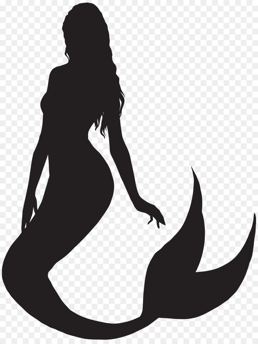 ariel mermaid silhouette clip art mermaid tail png vector border art vector borders free