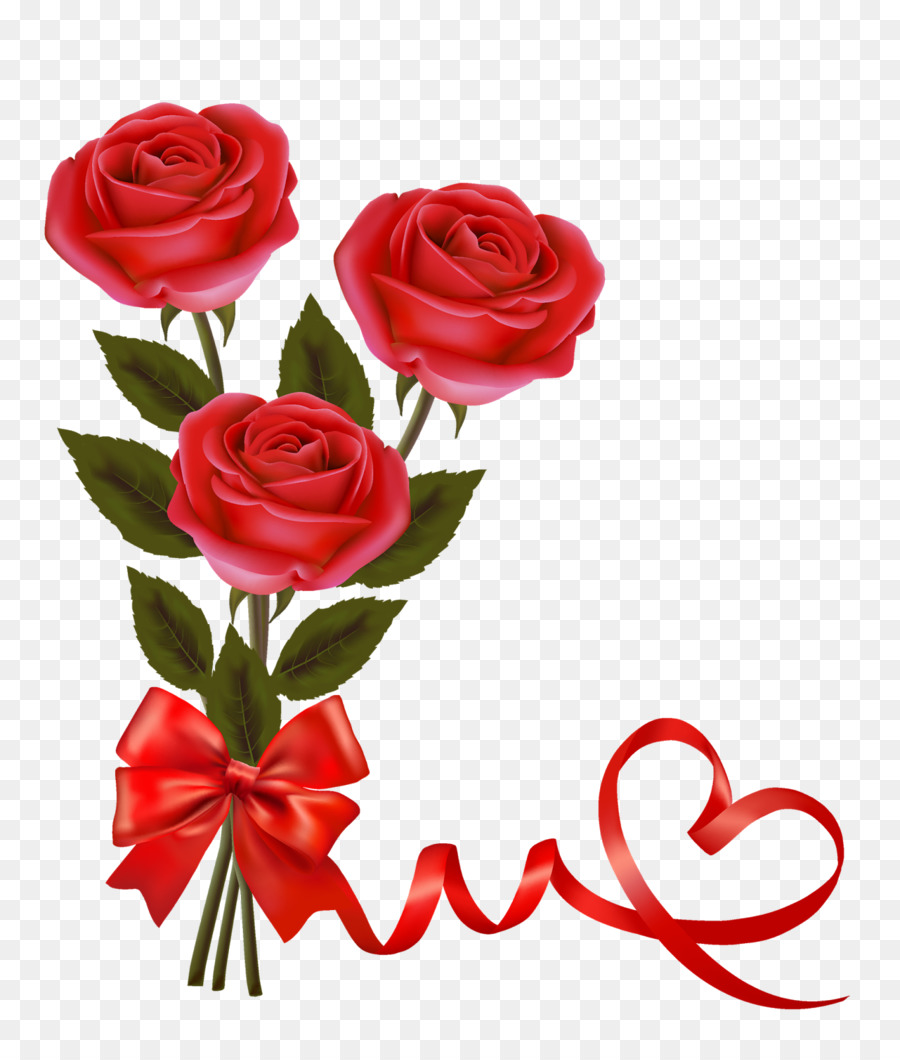 Valentines Day Rose Red Heart Nice Png Download 13601600