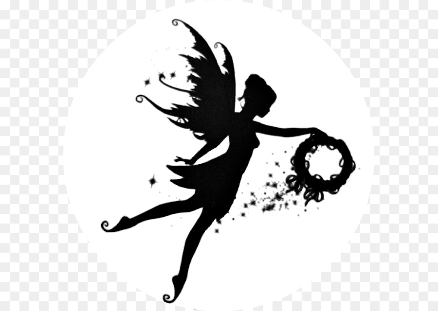 Fairy And Butterfly Stencils : Silhouette fairy stencil shadow fairies png download