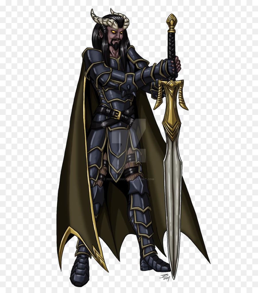 Dungeons Dragons Pathfinder Roleplaying Game Tiefling Warrior Male