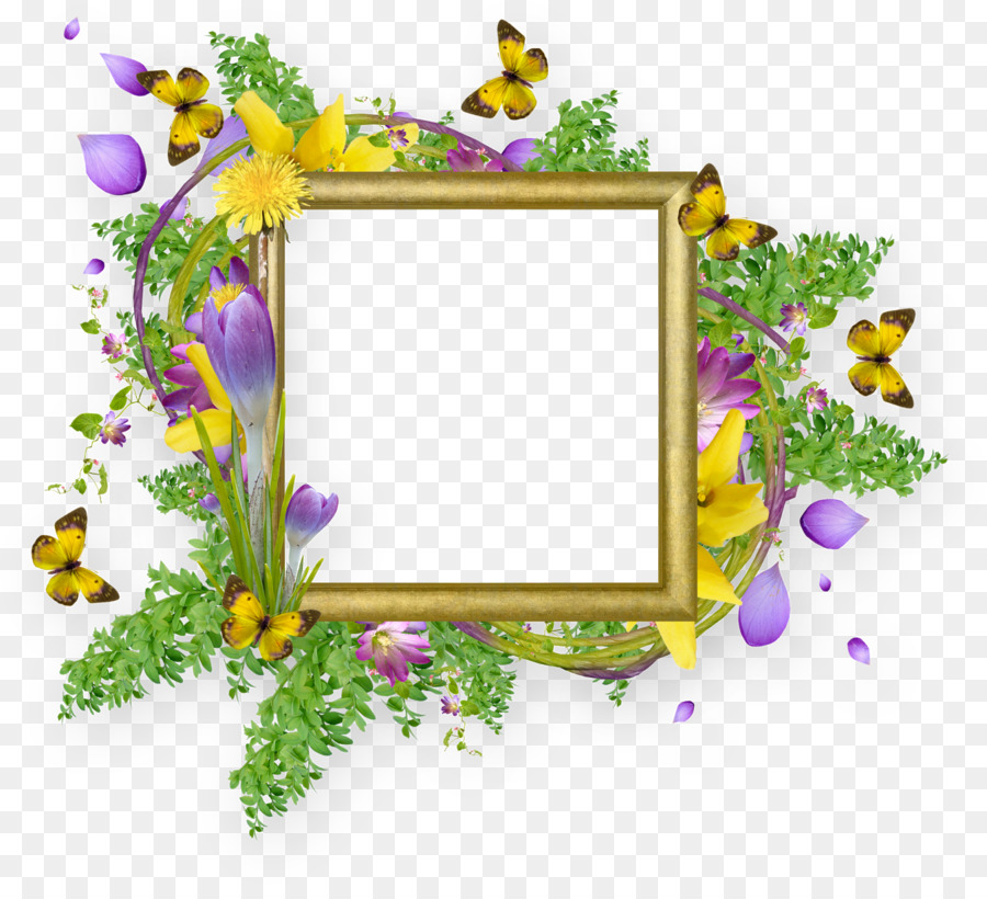 Butterfly Picture Frames Clip art - easter frame png download - 1600 ...