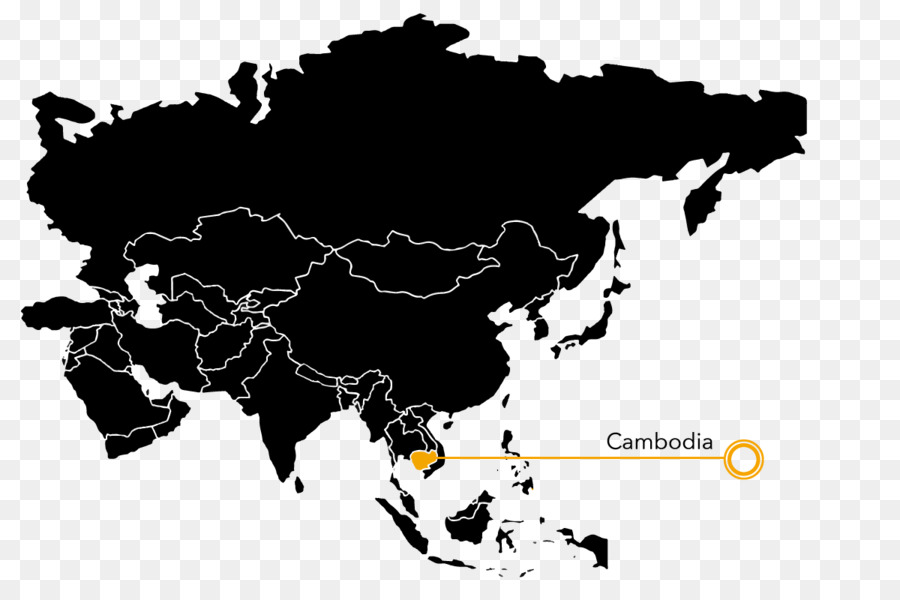 Asia Middle East World map Blank map - Cambodia png download - 1200 ...