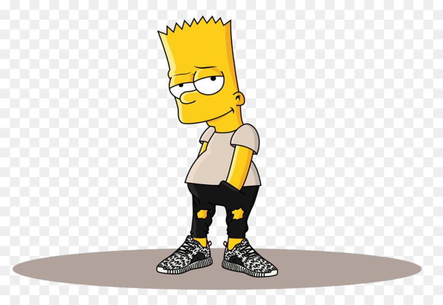 Bart Simpson Homer Adidas Yeezy Drawing