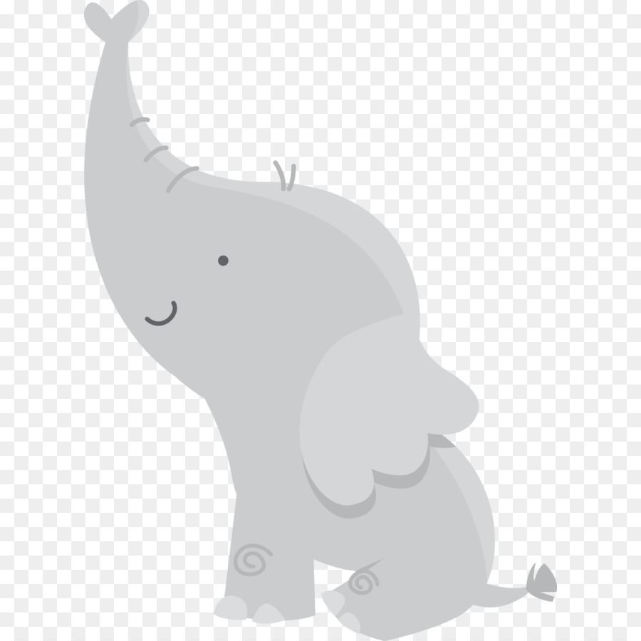 Baby Shower Infant Elephant Clip Art   Baby Elephant
