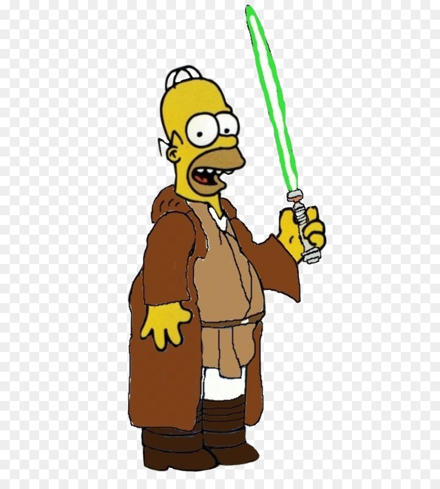 Homer simpson luke skywalker bart simpson ki adi mundi jedi homer