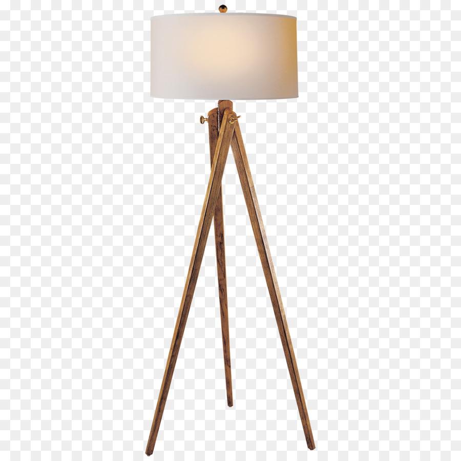 Table Lamp Floor Tripod Wood   Lamp