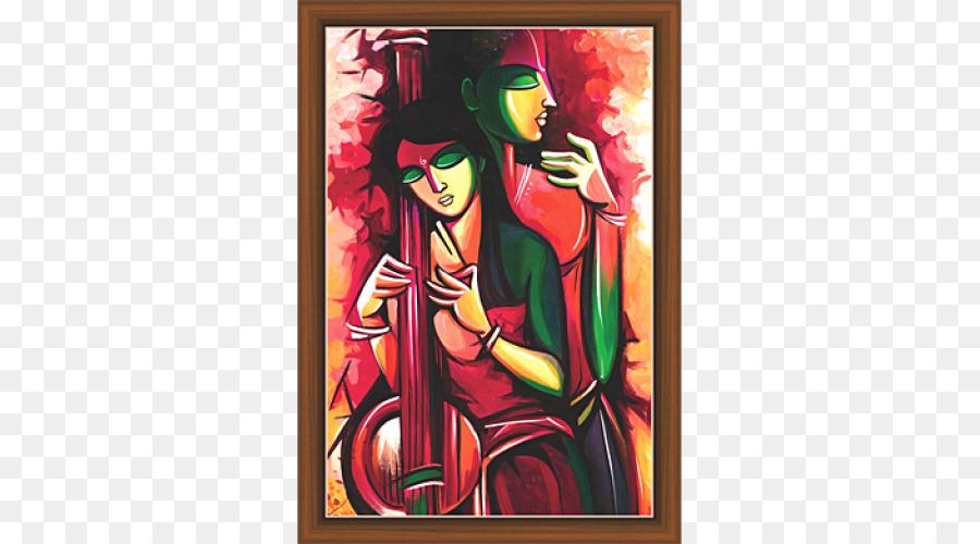Krishna Vrindavan Modern Art Painting