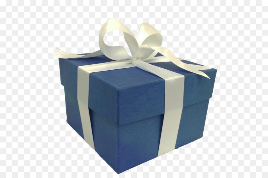 gift decorative box paper blue gift box