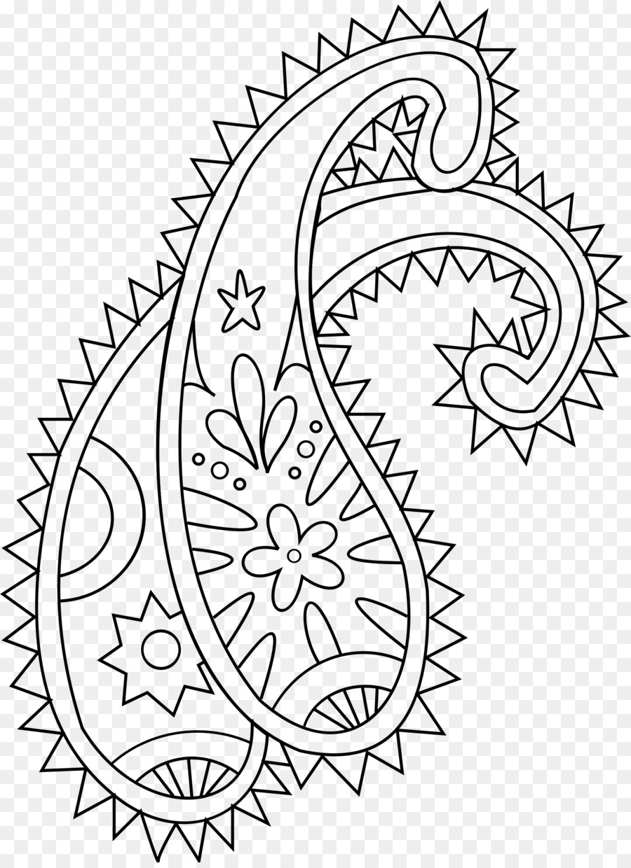 Coloring Book Paisley Drawing Mehndi Doodle