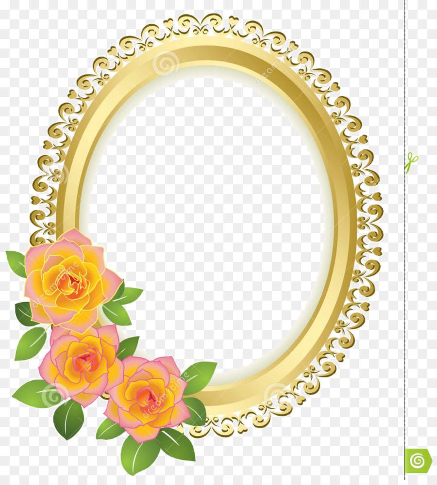 Grenzen und Rahmen Bilderrahmen Gold Blume - Runde Rahmen png ...