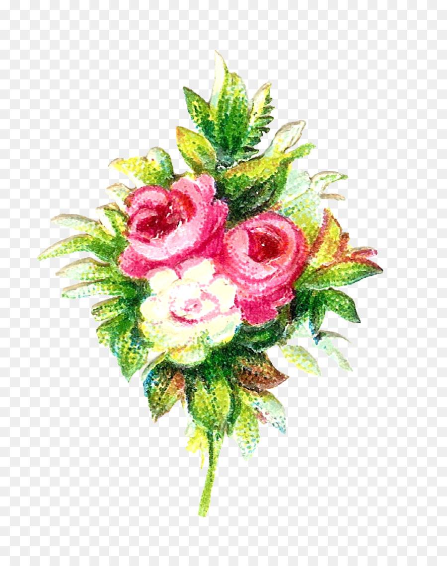 Flower bouquet Garden roses Cut flowers - rustic flowers png ...