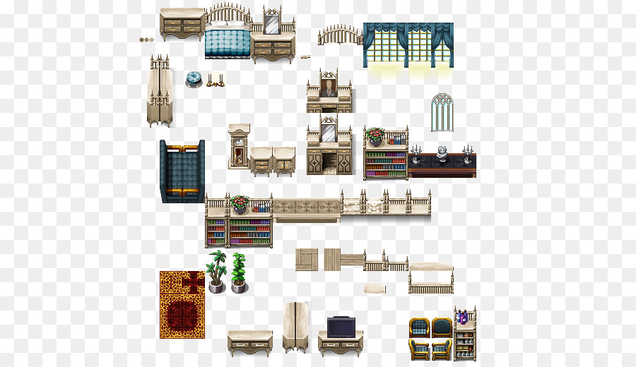 RPG Maker MV Furniture Tilebased Video Game Pixel Art RPG Maker VX - Bathroom maker