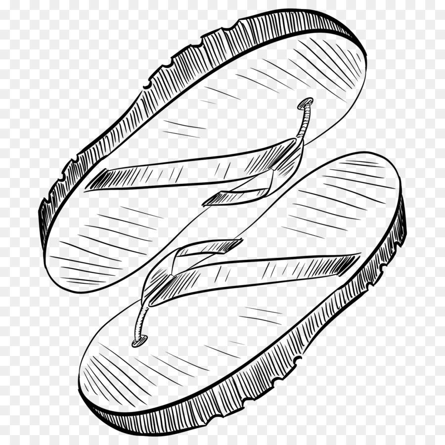 Chanclas Sandalias Calzado libro para Colorear - sandalia Formatos ...