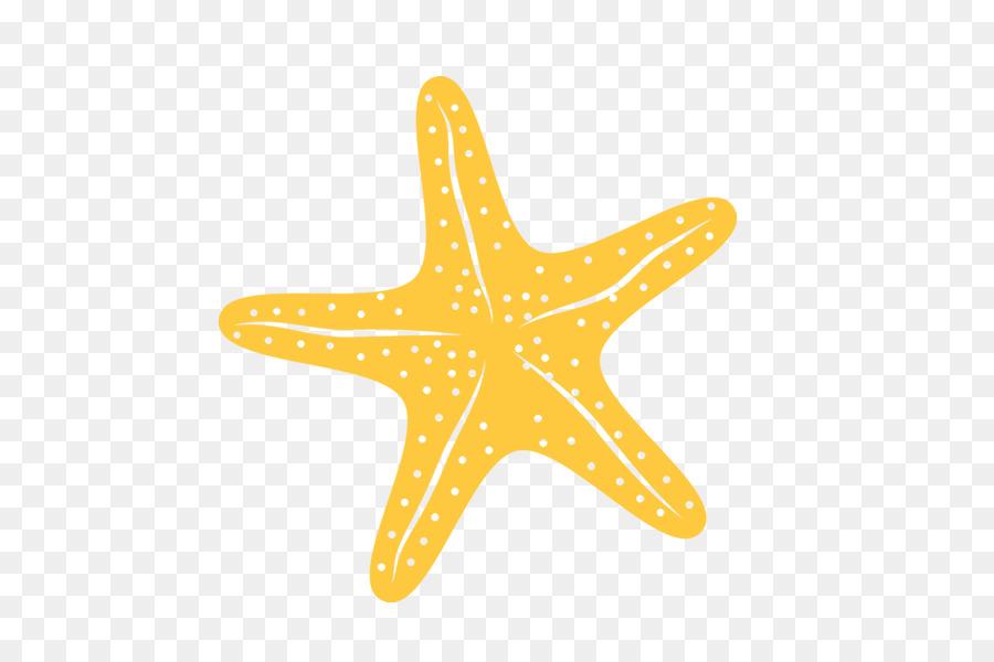 Starfish yellow clip art.