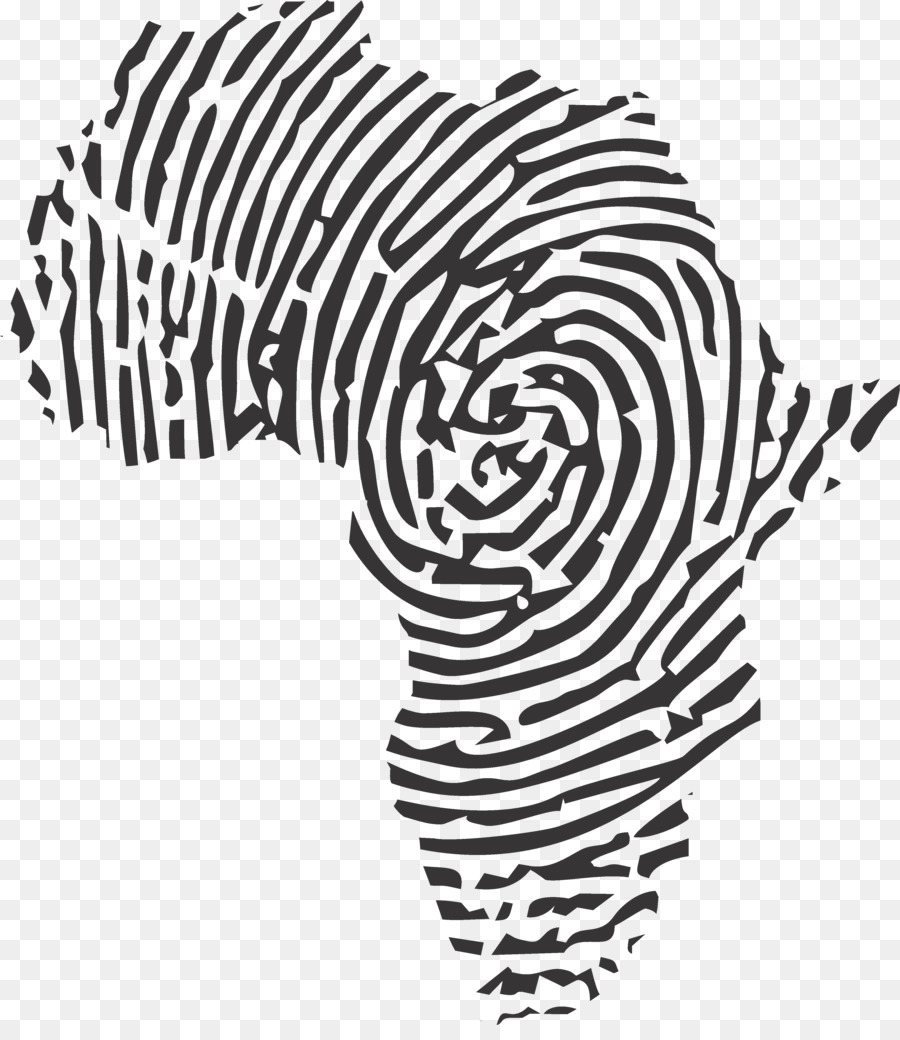 African art tattoo idea finger print
