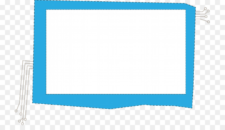 Paper Blue Rectangle Square Picture Frames - cloud frame png ...