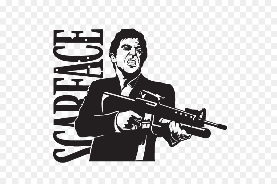 Al Pacino Tony Montana Scarface Wall decal Sticker - wall decal png ...