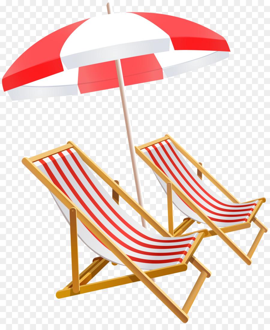 Umbrella Beach Chair Clip Art