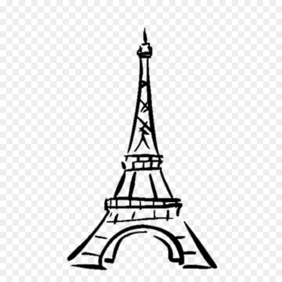 Eiffel tower drawing tower line art monochrome photography png