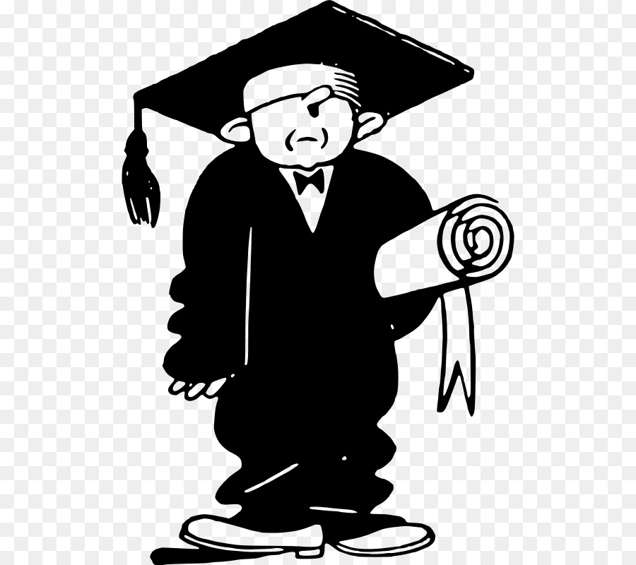 Graduation ceremony Diploma Clip art - graduation gown png download ...