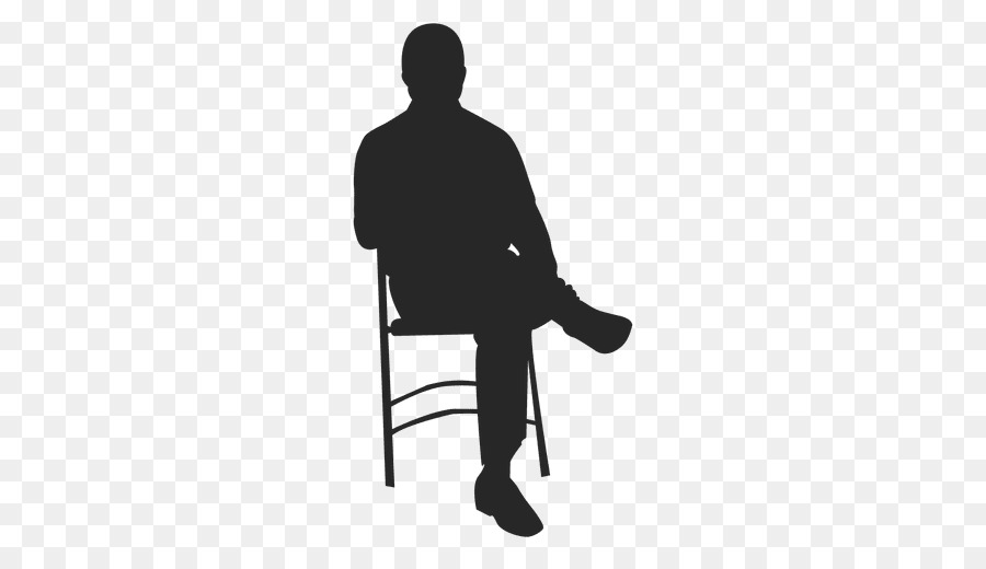 Rocking Chairs Silhouette   Sitting Man