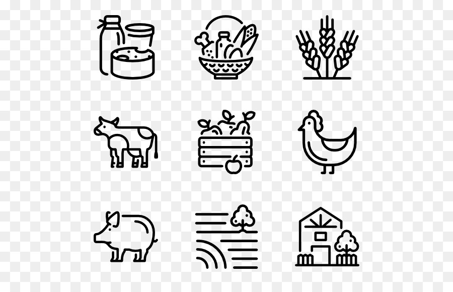 Computer Icons Icon Design Symbol Agriculture Farm Png Download