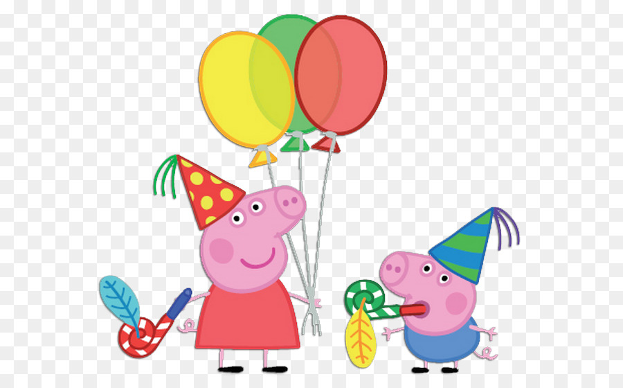 Peppa Pig Birthday png download - 700*557 - Free Transparent Daddy