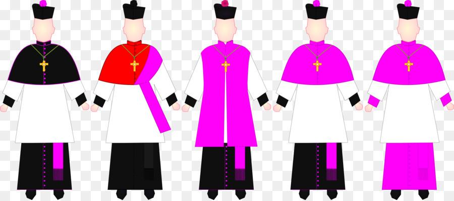 Choir dress Canon Vestment Rochet Deacon - graduation gown png ...