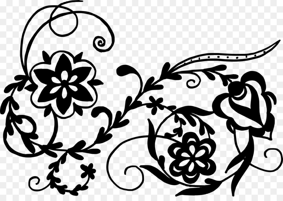 black and white flower art drawing floral design flower ornaments