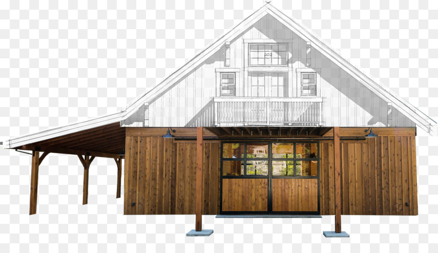Barn House plan Pole building framing Apartment - barn png download ...