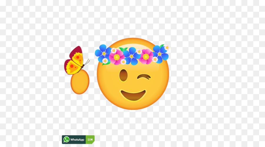 Emoticon Smiley Emoji Whatsapp Facepalm Blumenkranz Png