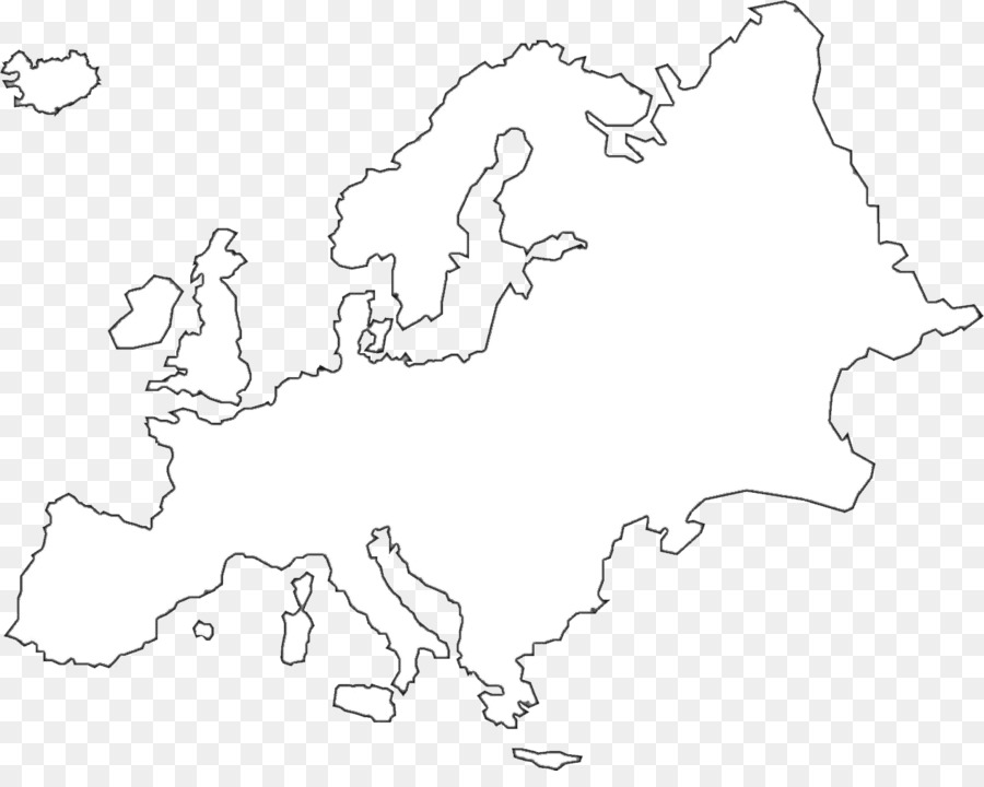 Europe United States Black And White Map Clip Art Europe Png