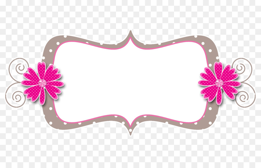 Pink Picture Frames Scrapbooking Polka dot Clip art - pink frame png ...