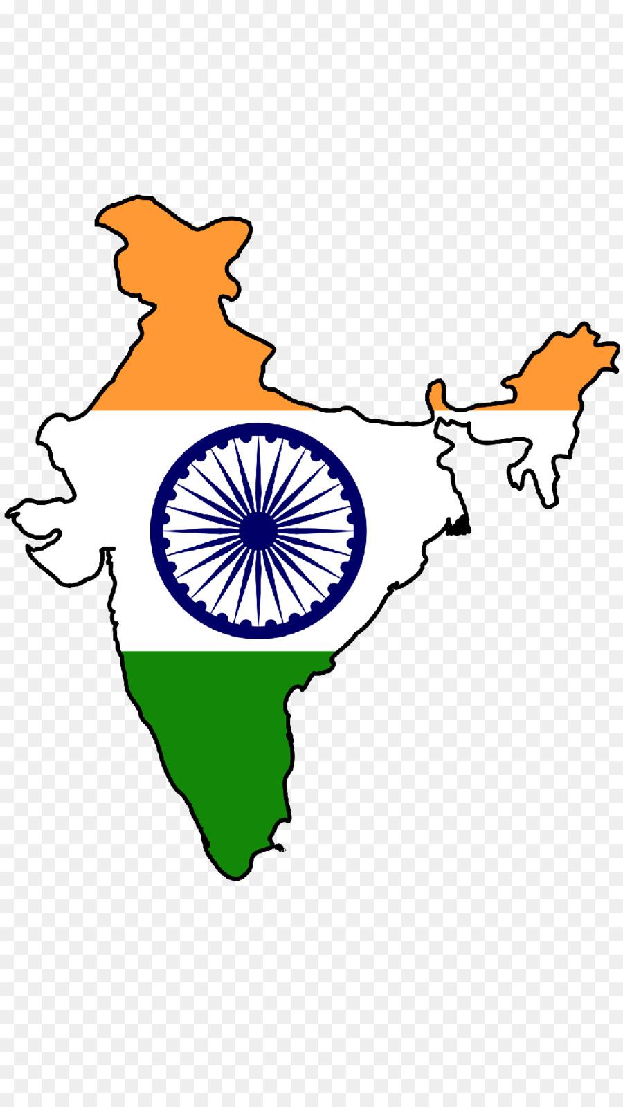 Bandera de la India Mapa de la bandera Nacional - la india mapa ...