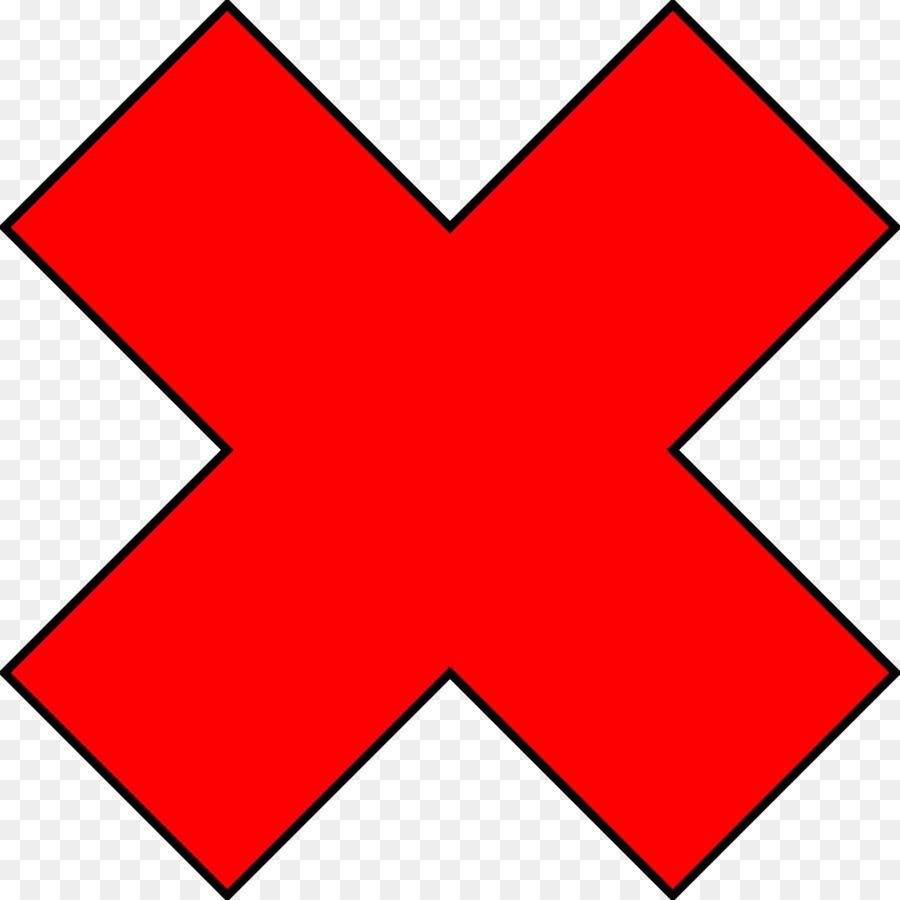Error Check Mark Clip Art Red Cross Png Download 24002400