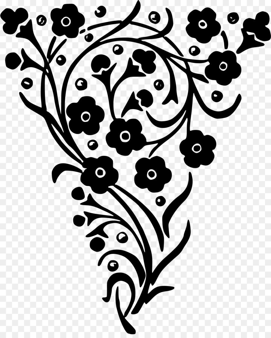 Floral Design Flower Clip Art Flower Black Png Download 1949