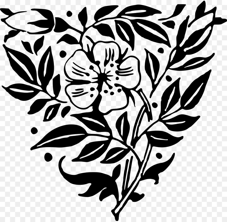 Flower Art Black And White Floral Design Clip Art Anemone Png