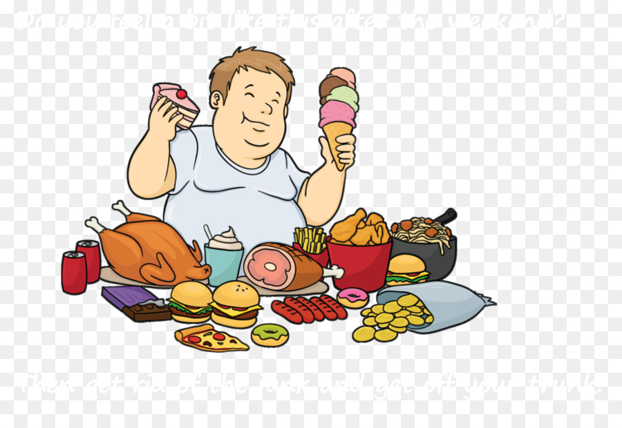 Junk food Fast food Hamburger Eating Cartoon - fat man png ...