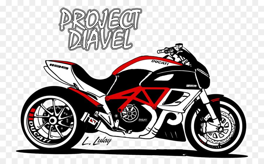 Car Motorcycle Ducati Diavel Drawing Ducati Png Download 3264
