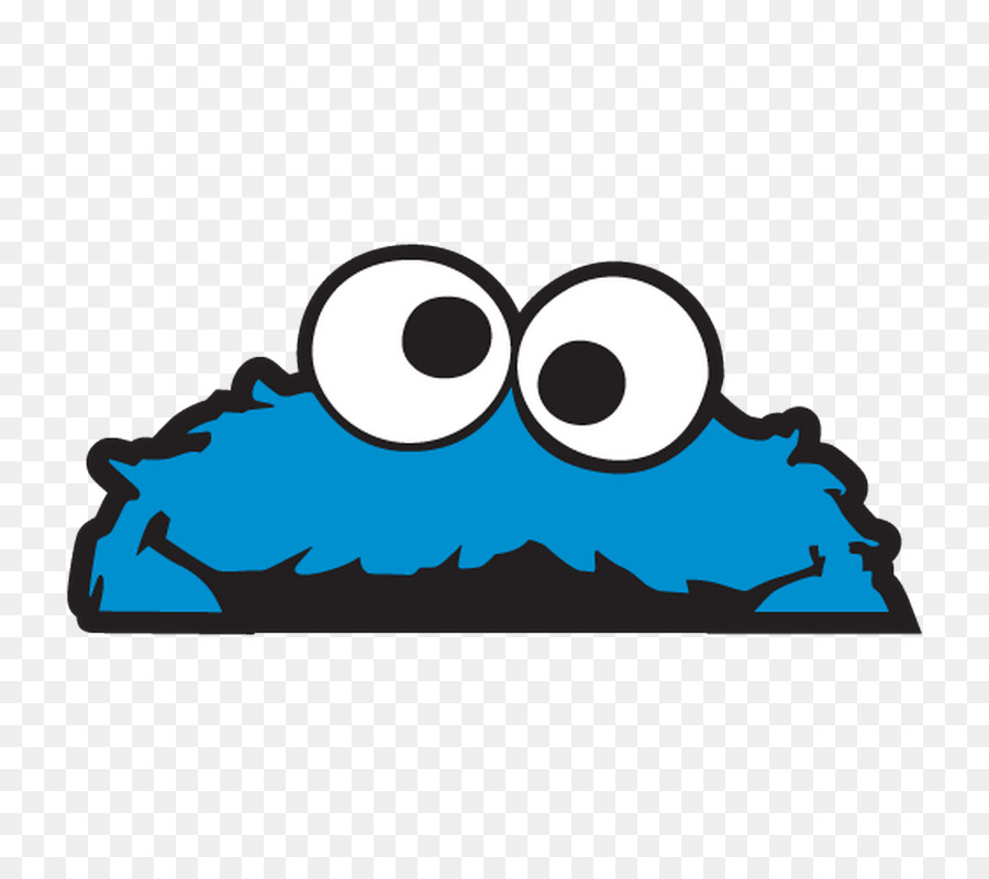 Cookie Monster Elmo Paper Sticker Decal Cookie Monster