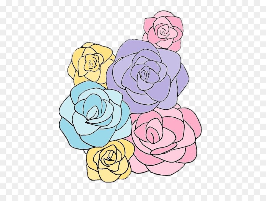 Le Jardin Des Fleurs Des Roses Dessin Pastel De Fleurs