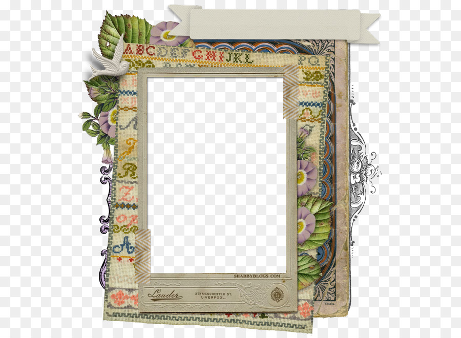 Picture Frames Paper Shabby chic Scrapbooking Embroidery - collage ...