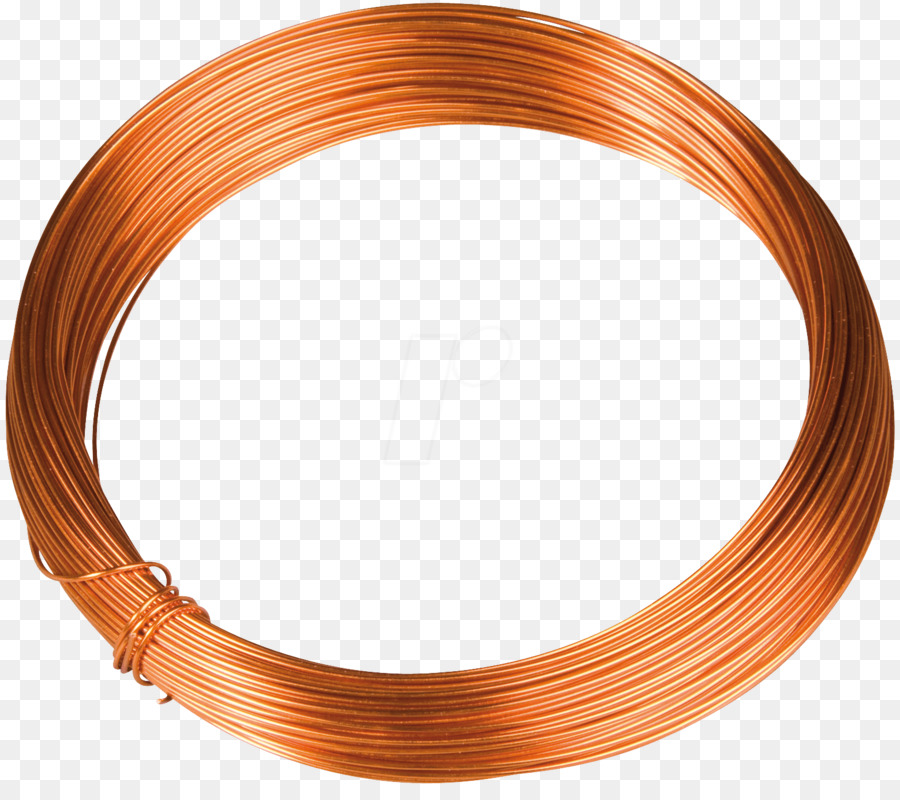 Copper conductor Magnet wire Electrical cable - wire png download ...
