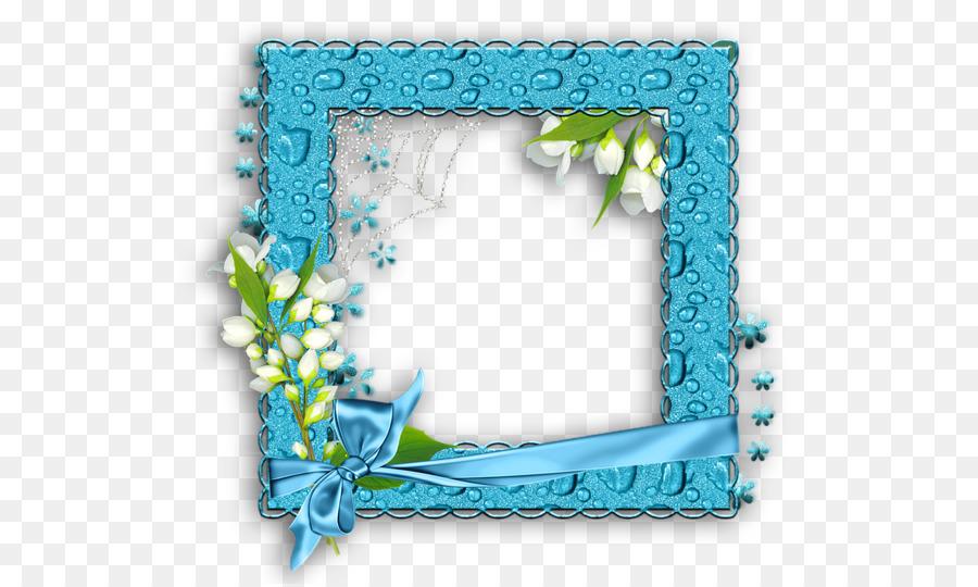 Picture Frames Water frame Clip art - blue frame png download - 600 ...