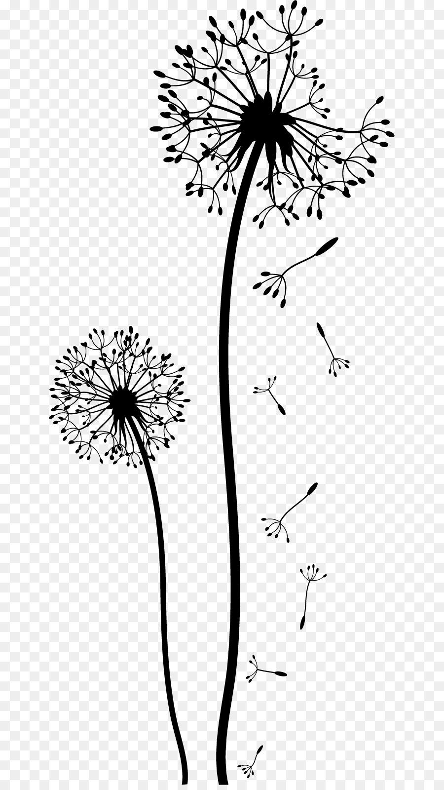 Dandelion drawing black and white clip art flower wall png dandelion drawing black and white clip art flower wall mightylinksfo