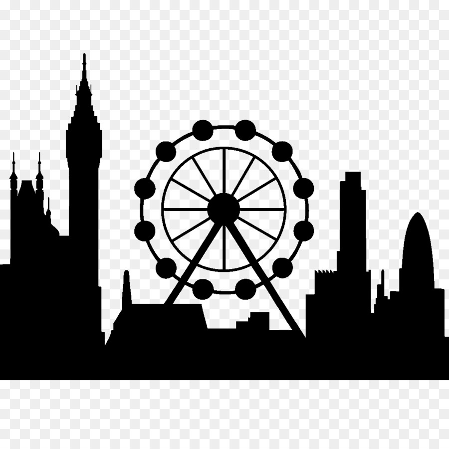 London Eye Wall Decal Sticker Skyline