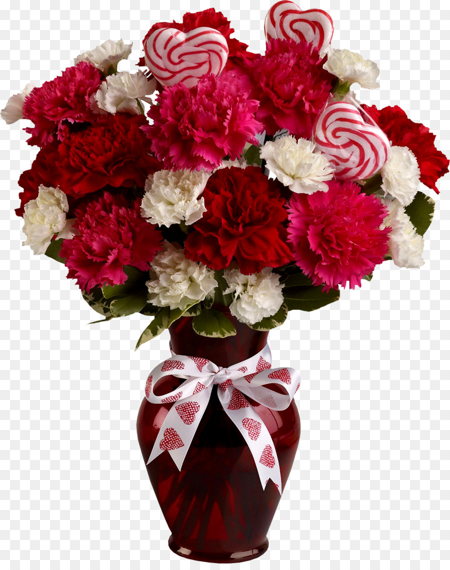 Valentines Day Flower Bouquet Floristry Gift Carnation Png